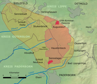 Sennelager Training Area - Location of the Sennelager Training Area
