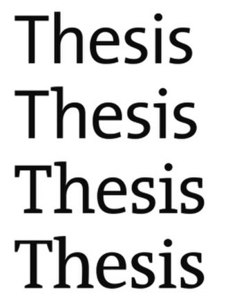 Thesis (typeface) - The same word in different styles