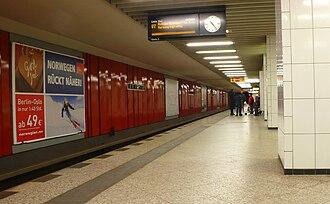 Berliner Straße (Berlin U-Bahn) - Platform of the U7