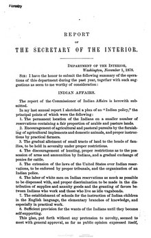 U.S. Department of the Interior Annual Report 1878.djvu