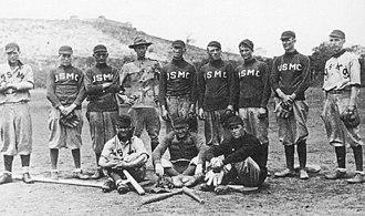 History of baseball in Nicaragua - United States Marine Corps baseball team in Managua, Nicaragua, 1915.