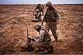 U.S. Marines with the 1st Battalion, 25th Marine Regiment, 4th Marine Division assess their shot groups during a small arms live fire exercise as part of exercise African Lion 2012 in Cap Draa, Morocco 120412-M-IX060-002.jpg