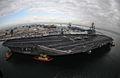 U.S. Sailors man the rails as the Nimitz-class aircraft carrier USS Ronald Reagan (CVN 76) pulls into Naval Air Station North Island, Calif. 081125-N-HX866-286.jpg