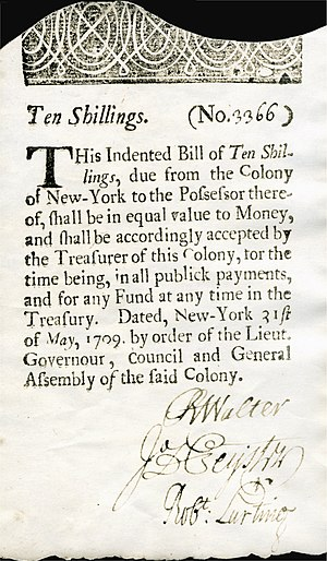 William Bradford (Colonial printer) - Image: US Colonial (NY 2) New York 31 May 1709