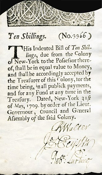 New York pound - Image: US Colonial (NY 2) New York 31 May 1709