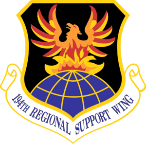 194th Regional Support Wing - 194th Wing emblem