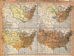Historic regions of the United States - United States territorial expansion since 1803, by William R. Shepherd (1923)