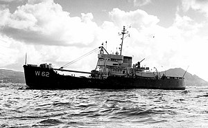 USCGC Balsam (WLB-62) off Honolulu in 1956
