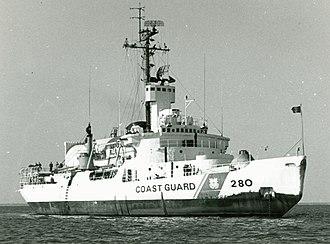 USCGC Southwind (WAGB-280) - Image: USCGC Southwind near USCG Base Berkley