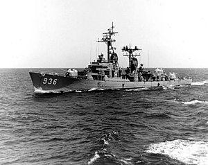 Decatur (DD-936) Underway on 13 April 1963.