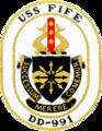 USS Fife (DD-991) crest.png