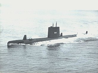Passive Underwater Fire Control Feasibility System - Image: USS Harder (SS 568)
