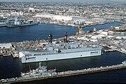 USS Kinkaid (DD-965) in floating drydock Steadfast