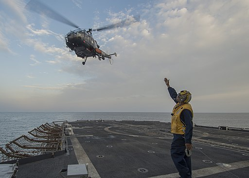USS San Jacinto conducts flight operations. (11855347473)