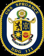 USS Spruance COA