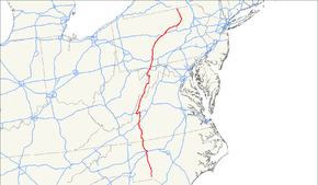 US Route Wikipedia - Us 220 map