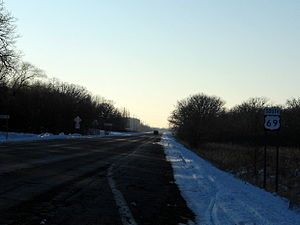 U.S. Route 69 - US 69 in Twin Lakes, Minnesota