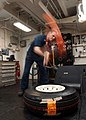 US Navy 021229-N-5362F-002 Aircraft tire maintenance.jpg