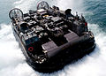 US Navy 030215-N-4048T-081 LCAC leaves USS Kearsarge loaded equipment.jpg