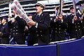 US Navy 031230-N-0399H-123 Midshipmen cheer as the Naval Academy took on Texas Tech at Reliant Stadium in Houston, Texas, before the EV1.Net Houston Bowl.jpg