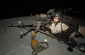 AN/PVS-4 - US Marine with a M240G machine gun in the Persian Gulf, 2004.