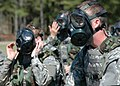 US Navy 060314-N-0057D-038 Navy Reservists and active duty personnel don their MCU-2P Nuclear-Biological-and Chemical Warfare gas masks during an Individual Augmentee Training Course at the McCrady Training Center.jpg