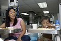 US Navy 080607-N-0209M-005 Three-year-old Jose Angelo Dacuycuy eats his first meal after having surgery to correct his Hirschsprung's disease.jpg