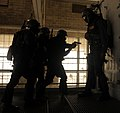 US Navy 100308-N-7498L-028 Pearl Harbor-based Sailors navigate through the advanced Security Reaction Force course scenarios at the Center for Security Forces, Pearl Harbor learning site.jpg