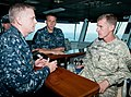 US Navy 100617-N-1928O-310 Gen. Stanley McChrystal, commander of the NATO International Security Assistance Force and U.S. Forces Afghanistan, visits the Dwight D. Eisenhower.jpg