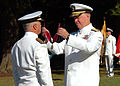 US Navy 100909-N-8132M-165 Chief of Naval Operations (CNO) Adm. Gary Roughead presents the Chief of the Spanish Naval Staff Adm. Gen. Manuel Reboll.jpg