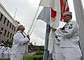 US Navy 100915-N-3215T-030 Chief petty officer selects raise the American and Japanese flags during morning colors at Commander, Fleet Activities Y.jpg