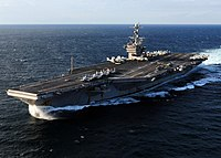US Navy 101206-N-5538K-395 The aircraft carrier USS George Washington (CVN 76) transits the East China Sea.jpg