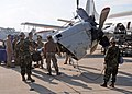 US Navy 110105-N-9564W-139 Seabees assist the crew members of Fleet Air Reconnaissance Squadron (VQ 2) with an engine swap.jpg