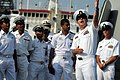 US Navy 110316-N-9818V-373 Chief Fire Controlman Seth Rusackas gives a tour to Indian navy sailors aboard the Arleigh Burke-class guided-missile de.jpg