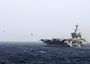 US Navy 120213-N-WD757-038 Aircraft launch from the flight deck of the Nimitz-class aircraft carrier USS Carl Vinson (CVN 70).jpg