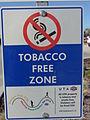 UTA Tobacco Free Zone sign.JPG
