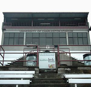 University of Charleston Stadium at Laidley Field - Press box at Laidley Field (University of Charleston Stadium)