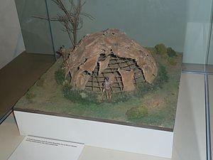 Mount Sandel Mesolithic site - Model of a Mount Sandel Hut