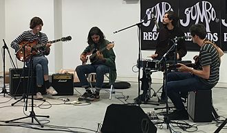 Ultimate Painting - Ultimate Painting performing at Jumbo Records, Leeds, September 2016