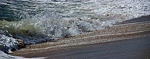 Undertow on the beach in Nantucket, Massachusetts