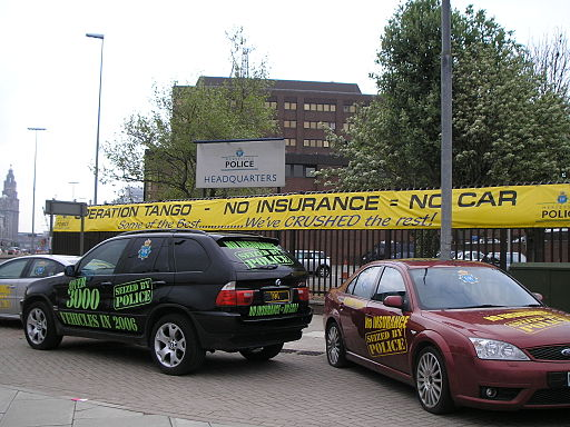 Uninsured cars seized by police in Liverpool