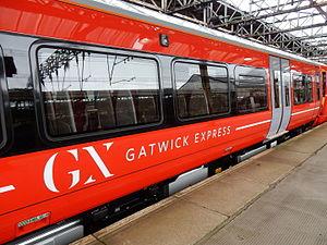 Gatwick Express - Exterior of a Class 387 passenger carriage