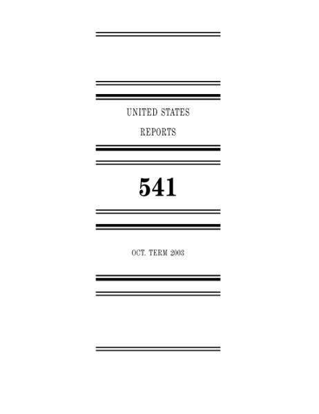 File:United States Reports, Volume 541.djvu