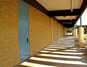 University High School (Irvine, California) - The 200-Building classrooms in front of the office.