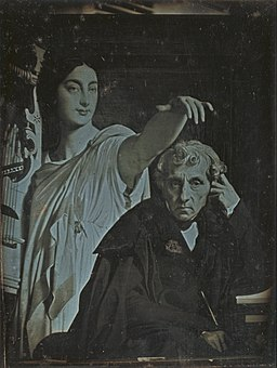 Unknown maker, French - (Ingres Painting of Maria Luigi Carlo Zenobio Salvatore Cherubini and his muse) - Google Art Project