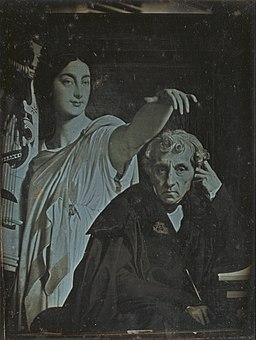 Unknown maker, French - (Ingres Painting of Maria Luigi Carlo Zenobio Salvatore Cherubini and his muse) - Google Art Project