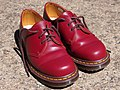 Unlaced Dr Martens Oxblood Made in England 1461 shoes.jpg
