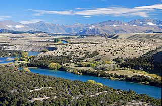 Clutha River River in the South Island of New Zealand