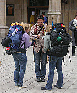 Backpacking (travel) Low-cost, lightweight, independent and often international travel.