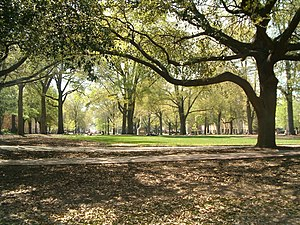 Old Campus District, University of South Carolina - The Horseshoe at the heart of USC's historic campus as it looks today.